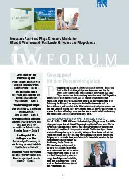 IW-Forum Ausgabe 1/2011
