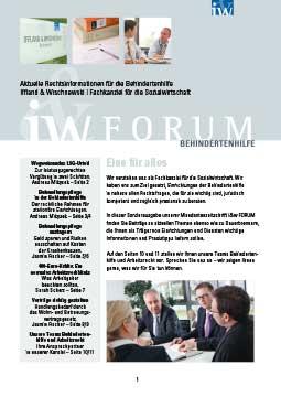 IW-Forum Behindertenhilfe 1-2012