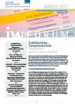 IW-Forum Ambulante Pflege 1-2013